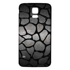 Skin1 Black Marble & Gray Metal 1 Samsung Galaxy S5 Back Case (white) by trendistuff