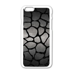 Skin1 Black Marble & Gray Metal 1 Apple Iphone 6/6s White Enamel Case by trendistuff