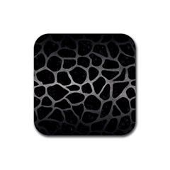 Skin1 Black Marble & Gray Metal 1 (r) Rubber Square Coaster (4 Pack)  by trendistuff