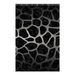 Skin1 Black Marble & Gray Metal 1 (r) Shower Curtain 48  X 72  (small)  by trendistuff