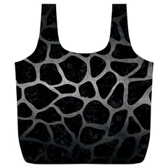 Skin1 Black Marble & Gray Metal 1 (r) Full Print Recycle Bags (l)  by trendistuff