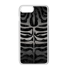 Skin2 Black Marble & Gray Metal 1 Apple Iphone 7 Plus White Seamless Case by trendistuff