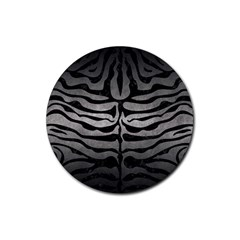 Skin2 Black Marble & Gray Metal 1 (r) Rubber Coaster (round)  by trendistuff