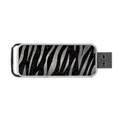 Skin3 Black Marble & Gray Metal 1 Portable Usb Flash (one Side) by trendistuff