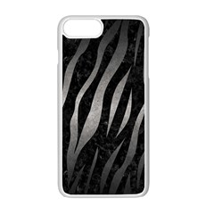 Skin3 Black Marble & Gray Metal 1 Apple Iphone 7 Plus White Seamless Case by trendistuff
