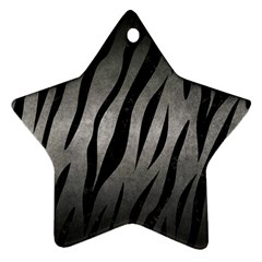 Skin3 Black Marble & Gray Metal 1 (r) Star Ornament (two Sides) by trendistuff