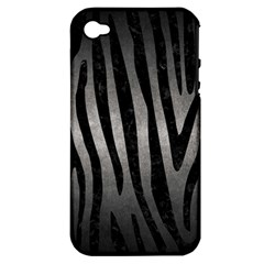 Skin4 Black Marble & Gray Metal 1 Apple Iphone 4/4s Hardshell Case (pc+silicone) by trendistuff
