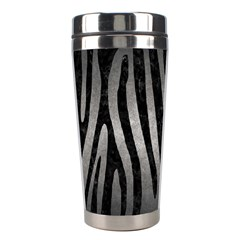 Skin4 Black Marble & Gray Metal 1 Stainless Steel Travel Tumblers by trendistuff