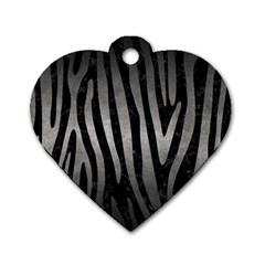 Skin4 Black Marble & Gray Metal 1 (r) Dog Tag Heart (one Side) by trendistuff