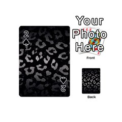 Skin5 Black Marble & Gray Metal 1 (r) Playing Cards 54 (mini)  by trendistuff
