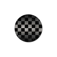 Square1 Black Marble & Gray Metal 1 Golf Ball Marker (10 Pack) by trendistuff