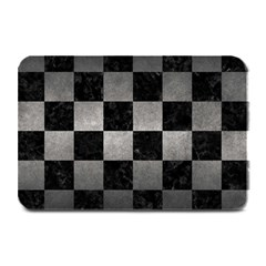Square1 Black Marble & Gray Metal 1 Plate Mats by trendistuff
