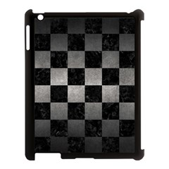 Square1 Black Marble & Gray Metal 1 Apple Ipad 3/4 Case (black) by trendistuff