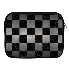 Square1 Black Marble & Gray Metal 1 Apple Ipad 2/3/4 Zipper Cases by trendistuff