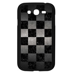Square1 Black Marble & Gray Metal 1 Samsung Galaxy Grand Duos I9082 Case (black) by trendistuff