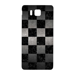 Square1 Black Marble & Gray Metal 1 Samsung Galaxy Alpha Hardshell Back Case by trendistuff