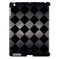 Square2 Black Marble & Gray Metal 1 Apple Ipad 3/4 Hardshell Case (compatible With Smart Cover) by trendistuff