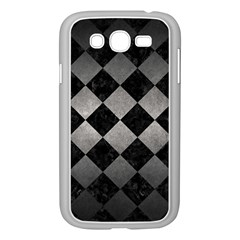 Square2 Black Marble & Gray Metal 1 Samsung Galaxy Grand Duos I9082 Case (white) by trendistuff