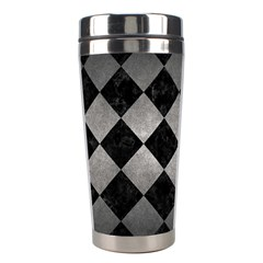 Square2 Black Marble & Gray Metal 1 Stainless Steel Travel Tumblers by trendistuff