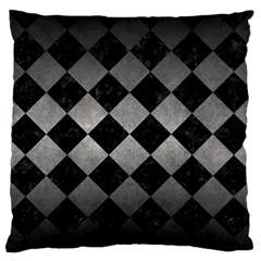 Square2 Black Marble & Gray Metal 1 Standard Flano Cushion Case (one Side) by trendistuff