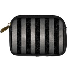 Stripes1 Black Marble & Gray Metal 1 Digital Camera Cases by trendistuff
