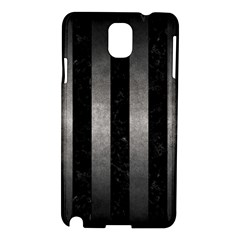 Stripes1 Black Marble & Gray Metal 1 Samsung Galaxy Note 3 N9005 Hardshell Case by trendistuff
