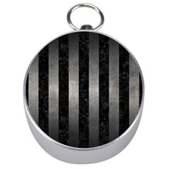 Stripes1 Black Marble & Gray Metal 1 Silver Compasses by trendistuff