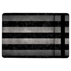 Stripes2 Black Marble & Gray Metal 1 Ipad Air Flip by trendistuff