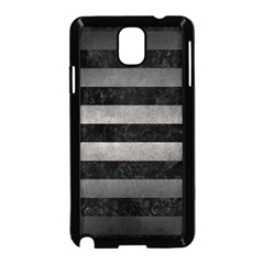 Stripes2 Black Marble & Gray Metal 1 Samsung Galaxy Note 3 Neo Hardshell Case (black) by trendistuff