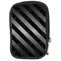 Stripes3 Black Marble & Gray Metal 1 (r) Compact Camera Cases by trendistuff