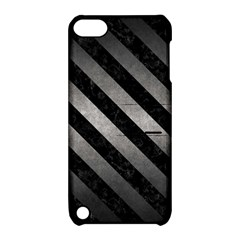 Stripes3 Black Marble & Gray Metal 1 (r) Apple Ipod Touch 5 Hardshell Case With Stand by trendistuff