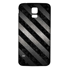 Stripes3 Black Marble & Gray Metal 1 (r) Samsung Galaxy S5 Back Case (white) by trendistuff