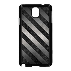 Stripes3 Black Marble & Gray Metal 1 (r) Samsung Galaxy Note 3 Neo Hardshell Case (black) by trendistuff