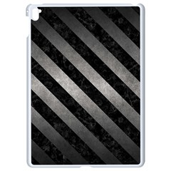 Stripes3 Black Marble & Gray Metal 1 (r) Apple Ipad Pro 9 7   White Seamless Case by trendistuff