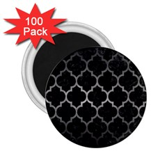 Tile1 Black Marble & Gray Metal 1 2 25  Magnets (100 Pack)  by trendistuff