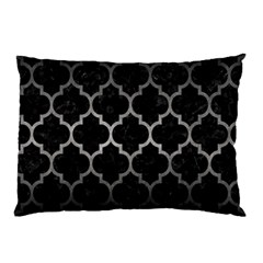 Tile1 Black Marble & Gray Metal 1 Pillow Case by trendistuff