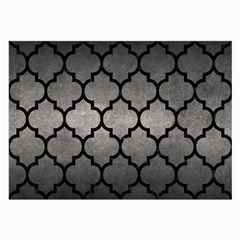 Tile1 Black Marble & Gray Metal 1 (r) Large Glasses Cloth (2 Side) by trendistuff