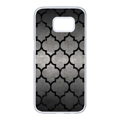 Tile1 Black Marble & Gray Metal 1 (r) Samsung Galaxy S7 Edge White Seamless Case by trendistuff
