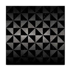 Triangle1 Black Marble & Gray Metal 1 Tile Coasters by trendistuff