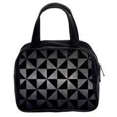 Triangle1 Black Marble & Gray Metal 1 Classic Handbags (2 Sides) by trendistuff