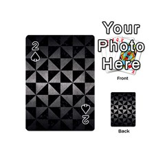 Triangle1 Black Marble & Gray Metal 1 Playing Cards 54 (mini)  by trendistuff