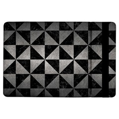 Triangle1 Black Marble & Gray Metal 1 Ipad Air Flip by trendistuff