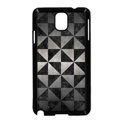 Triangle1 Black Marble & Gray Metal 1 Samsung Galaxy Note 3 Neo Hardshell Case (black) by trendistuff