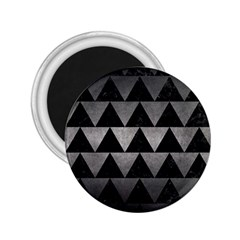 Triangle2 Black Marble & Gray Metal 1 2 25  Magnets by trendistuff