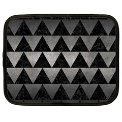 Triangle2 Black Marble & Gray Metal 1 Netbook Case (large) by trendistuff