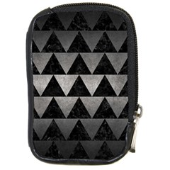 Triangle2 Black Marble & Gray Metal 1 Compact Camera Cases by trendistuff