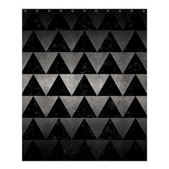 Triangle2 Black Marble & Gray Metal 1 Shower Curtain 60  X 72  (medium)  by trendistuff