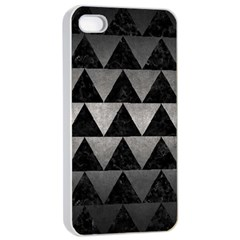 Triangle2 Black Marble & Gray Metal 1 Apple Iphone 4/4s Seamless Case (white) by trendistuff