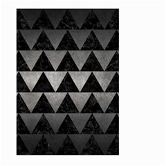 Triangle2 Black Marble & Gray Metal 1 Large Garden Flag (two Sides) by trendistuff