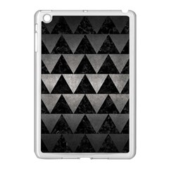 Triangle2 Black Marble & Gray Metal 1 Apple Ipad Mini Case (white) by trendistuff